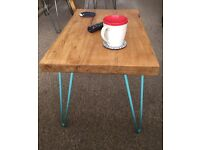 Hand made coffee table. Oak & hairpin legs