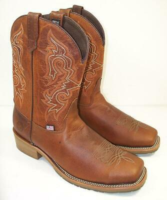 Double H Boot Mens 12 D  Domestic Square Steel Toe Work Boots DH5628