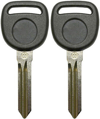 2 New Uncut Cadillac Chevy Buick Transponder Chip Ignition Key B111 Pt