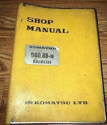 Komatsu D80 85 18 Shop Service Repair Manual Bulldozer