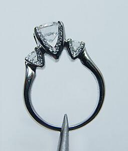 VERRAGIO-Platinum-3-Stone-Diamond-Ring-Mounting-Semi-Mount-Setting-Brand-New