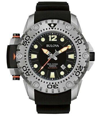 Bulova Sea King Men's Automatic Date Calendar Black Dial 50mm Watch 96B226