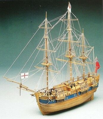 "Beautiful, brand new wooden model ship kit by Mantua: the ""Endeavour"" (774)"