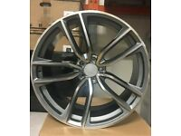 "x4 22"" Mercedes GLE Grey Polish Style Alloy Wheels ML GL GLE 10.5J ET40 5x112"
