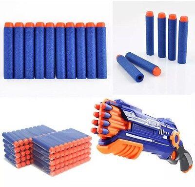 100 Refill Bullet Darts For Nerf N-Strike Blaster Blue & Orange 7.2cm US Seller