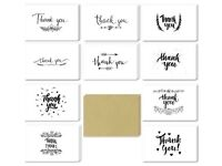 Rustic thank you card (45) ideal for wedding or engagement