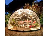 Garden igloo dome with pvc weatherproof cover