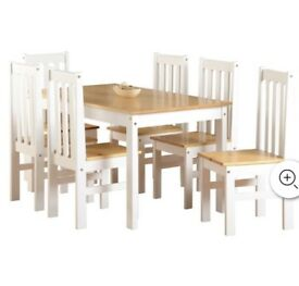 table and chairs 6 seater