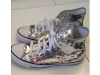 Brand new sequin converse