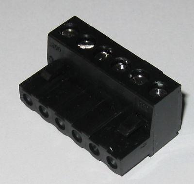 6 Position Screw Terminal Block - 0.200 Spacing - 1 316 X 34 X 916