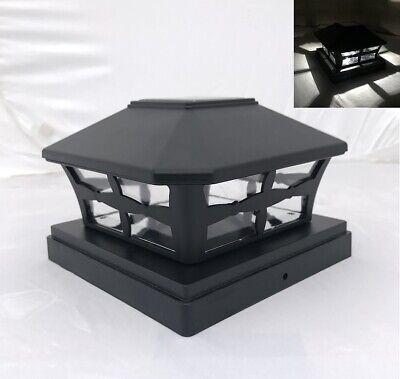 10-Pk Solar Black Cap Light With White SMD LED for 6