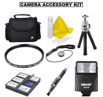 Accessory Kit (Bag Flash Tripod +) For Nikon D5600 D3500 D3400 w/ 18-55mm -