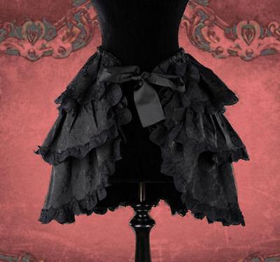 Gothic Steampunk Burlesque Neo Victorian Überrock Rock Bustle schwarz 38 40 42