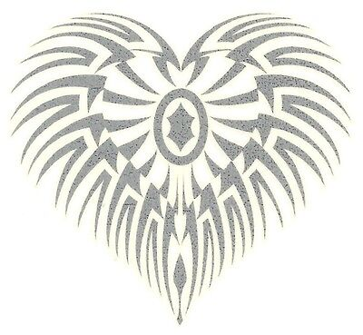 TRIBAL HEART GLOW IN THE DARK Temporary Tattoo - Glow In Dark Tattoo