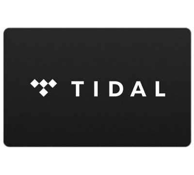 20 TIDAL Gift Card - Email Delivery  - $20.00