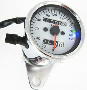 Universal-Moto-Dual-KMH-Odometer-Speedometer-Gauges-Head-turn-signal-LED-Light