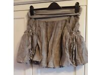 ALL SAINTS grey ruffle skirt - UK size 14