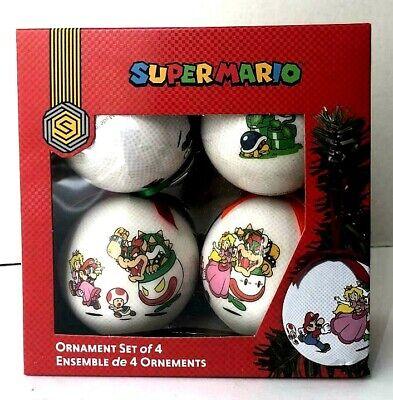 Super Mario Ornaments Set Of 4 Christmas Decoration Nintendo Figures ()