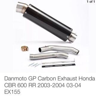 Honda CBR 600rr 2004 Sports Exhaust Dan Moto Carbon Fibre Wantirna South Knox Area Preview