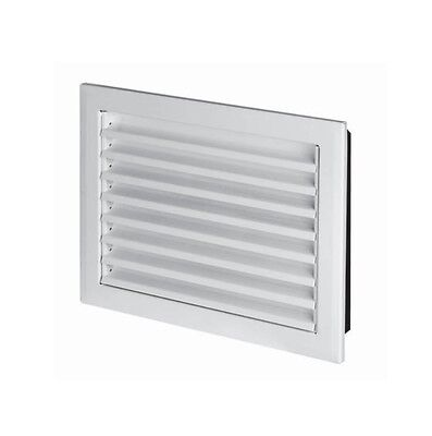 White Metal Air Vent Grille with Flange Heavy Duty Ducting Ventilation Cover MP - Metal Supply Grille