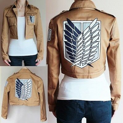 Attack on Titan Jacket Shingeki no Kyojin Scouting Legion Cosplay Jacket Coat