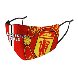 Manchester United face mask with pm2.5 filter men's teen kids unisex