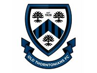 Old Thorntonians Football Club - new player trials 2017/18 - Saturday 11-a-side