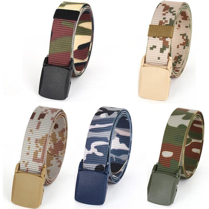 Men's Outdoor Sports Hiking Waistband Army Military Canvas Buckle Belt Waistband