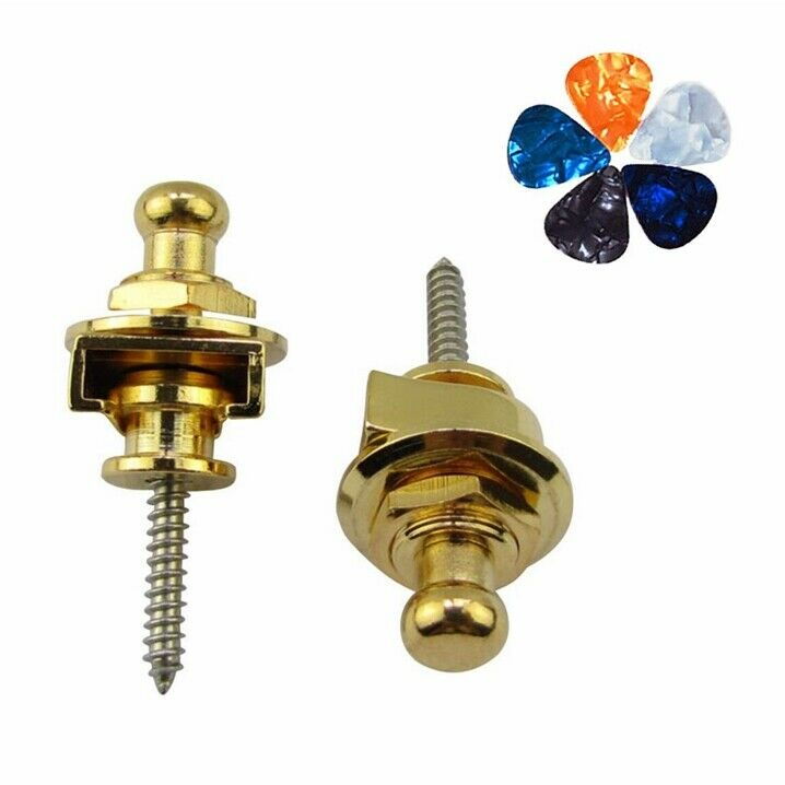 2 Pcs Strap locks with 5 Picks for Schaller Electric Acousti