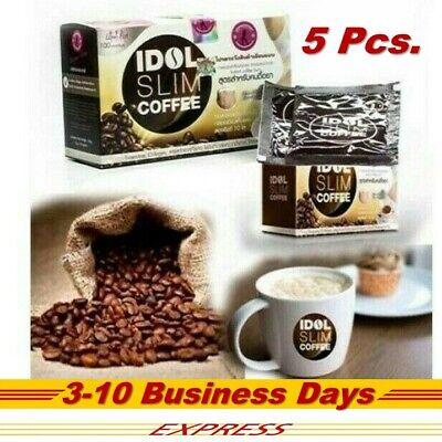 5 x IDOL Coffee Slim Drink Instant Diet Weight Burn Resistance Low Fat 10 Sachet