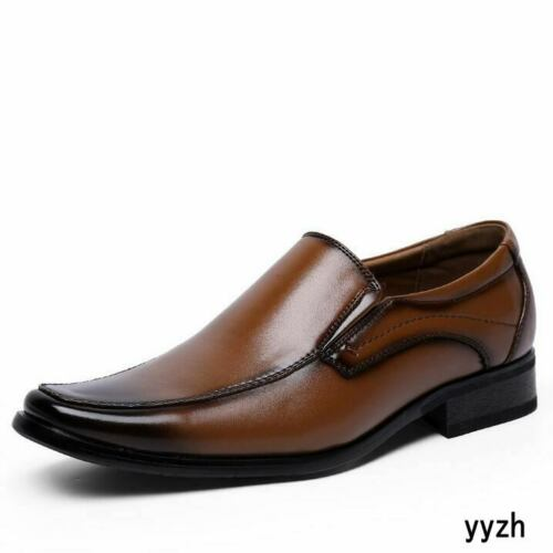 Details about  /Mens Low Top Faux Leather Shoes Dress Formal Work Business Slip on Oxfords New D