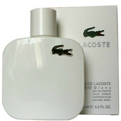 EAU DE LACOSTE BLANC PERFUM-LACOSTE 3.3 EDT SPR FOR MEN'S*COLOGNE NEW IN BOX*