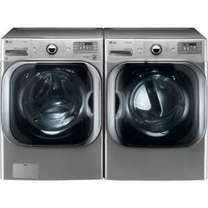 87 -   Laveuses Sécheuses Frontales LG 6.0 pi cu MEGA CAPACITE TURBO Frontload Washer Dryer