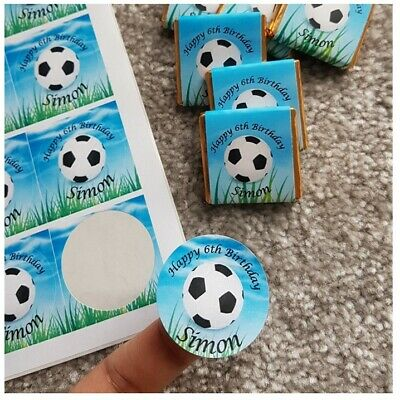 Personalised Football Birthday Chocolates & Stickers Labels (354) Ideas Party
