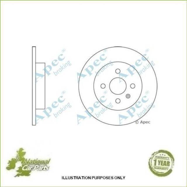 Apec Rear Brake Discs 264mm Vauxhall Opel Combo Meriva Pair (2) DSK2352 Solid