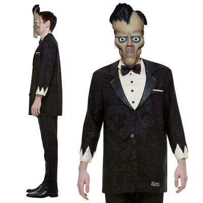 Lurch Addams Family Costume (Mens Halloween Licensed Addams Family Lurch Fancy Dress Costume New by)