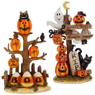 Raz Imports Halloween Decorations (Raz Imports Halloween Decor - Boo and RIP Cute Cats Candy Corn)