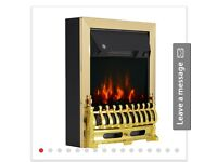 Flame Electric Fire Place-Golden