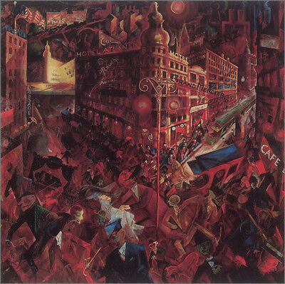 - The City  by George Grosz  Giclee Canvas Print Repro