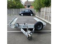 Brian James 14ft X 6ft6 tt series car transporter trailer & winch still under Warrenty hire/sale