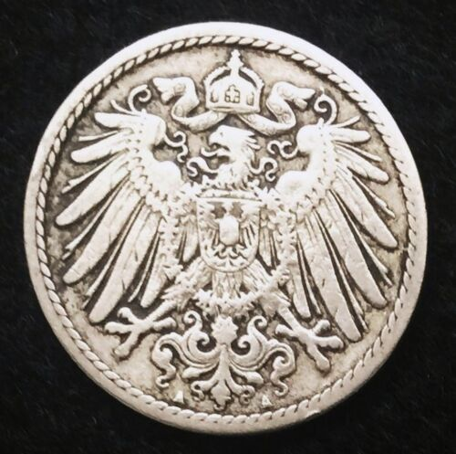Historical Antique- German 5 Pfennig Coin - More than 100 Years Old Coin