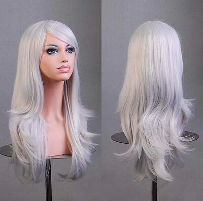 Cosplay Gelockt Curly Gewellt Haar Wig Perücke 70cm Halloween Karneva modell7005