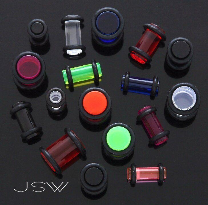 P#36 - 48pcs Wholesale Lot UV Acrylic Plugs 0g,2g,4g,6g Body Jewelry