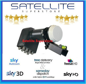 NEW GENUINE SKY OCTO LNB SKY HD / FREESAT HD , 8 OUTPUTS 4 MULTIROOM ,