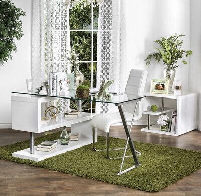 Furniture Of America Marisa Contemporary Convertible Executive Desk - White