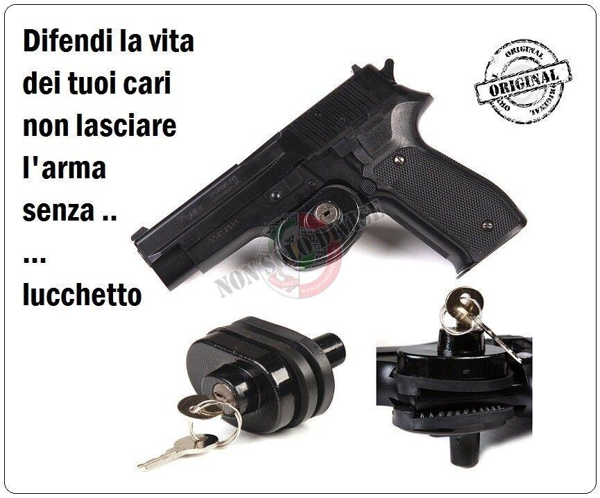 Lucchetto Serratura Con Chiave per Armi Pistola Fucili Fosco Sicurezza Proteggi