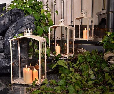 LANTERN TEA LIGHT HOLDER CANDLE WEDDING METAL GLASS GARDEN HOME DECOR