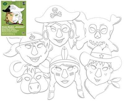 sken nach Themen Masken Fasching Kindergeburtstag Bastelset (Kinder Geburtstag Themen)