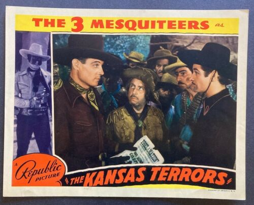 THREE MESQUITEERS In THE KANSAS TERRORS Orig LC 1939 LIVINGSTON RENALDO HATTON
