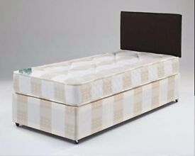 AMAZING OFFER'' -- Single Divan Bed -- Memory Foam/Orthopaedic/Deep Quilt Mattress -- Brand New